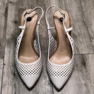 Shoes - White kitten heels